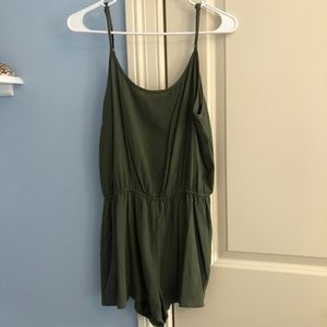 Forever 21 Green Tank Top Romper